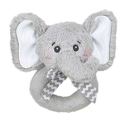 Why Choose Bearington Baby Lil' Spout Elephant Plush Ring Rattle 5.5