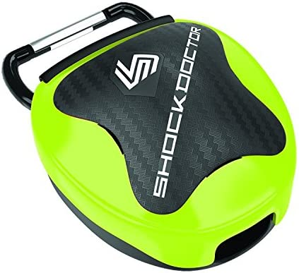 Shock Doctor Mouth Guard Case. Keep Your Mouthguard Clean / Safe. Reduces Exposure to Bacteria, SHOCK GREEN