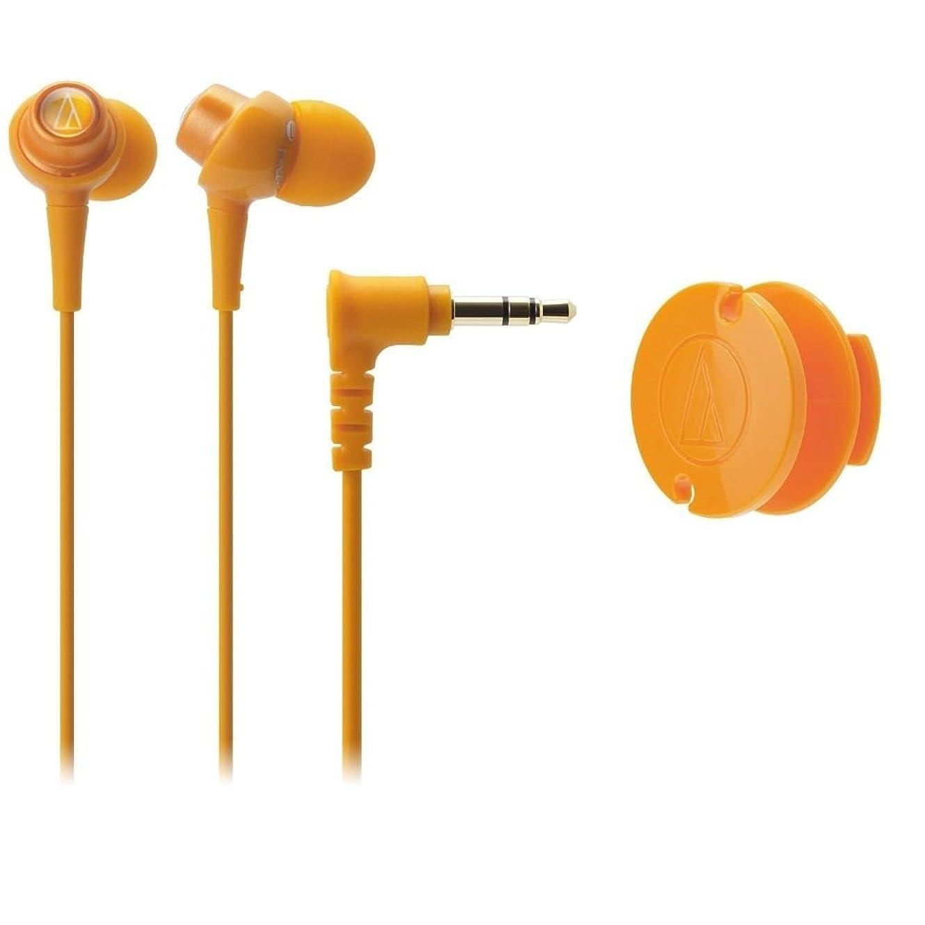 若い農場パラメータAudio-technica ATH-CKL203/OR インイヤーヘッドフォンディップイヤホン ATHCKL203 オレンジ [並行輸入品]