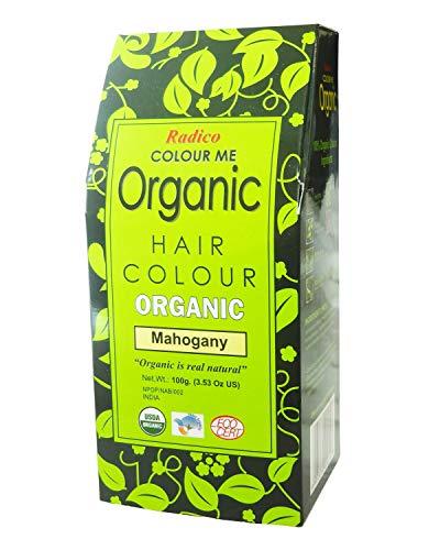 Radico - Poudre Colorante pour les Cheveux Acajou - Couvre Cheveux Gris - Protège et Nourrit - Certifié par Ecocert - 100% Naturelle - 100 g