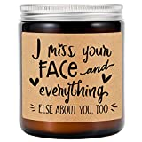 GSPY Scented Candles - Long Distance Gifts, I Miss You Gifts, I Love You Gifts for Him, Her - I Miss Your Face - Girlfriend Gifts, Friends Birthday Gifts - Fathers Day, Boyfriend Gifts, Husband Gifts