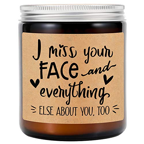 GSPY Lavender Scented Candles - Long Distance Relationships Gifts - I Miss...