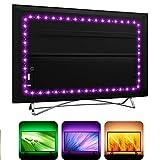 USB TV Backlight LED Strip Lights for HDTV SmartTV with 24Key Remote , 16 Color RGB5050 for Gaming...