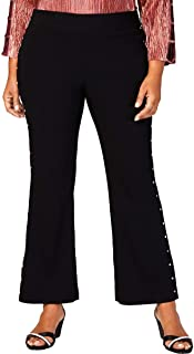 JM Collection Womens Plus Studded Pull On Pants