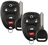 Discount Keyless Replacement Key Fob Car Remote and Uncut Transponder Key Compatible with OUC60270, 15912860, ID 46 (2 Pack)