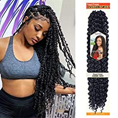 1.Hair Material: 18 inch Toyotress Water Wavefor Passion Twist Hair made with 100% high quality low temperature synthetic fiber. 2.Hair Advantages: Our passion twist hair is Super Soft; Lightweight; Tangle-free; Shedding-free; No smell; Very easy to...