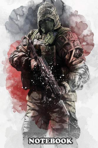 Notebook: Illustration Of Kapkan Rainbow Six , Journal for Writing, College Ruled Size 6' x 9', 110 Pages