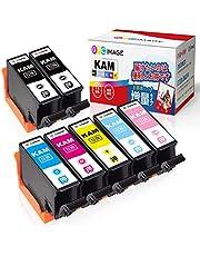 GPC Image KAM-6CL-L + KAM-BK-L エプソン カメ インクカートリッジ 7本パック Epson EP-882AW EP-882AB EP-882AR EP-881AW EP-881AB EP-881AR EP-881AN 互換インク 残量表示機能 2年保証 個包装 大容量 説明書付
