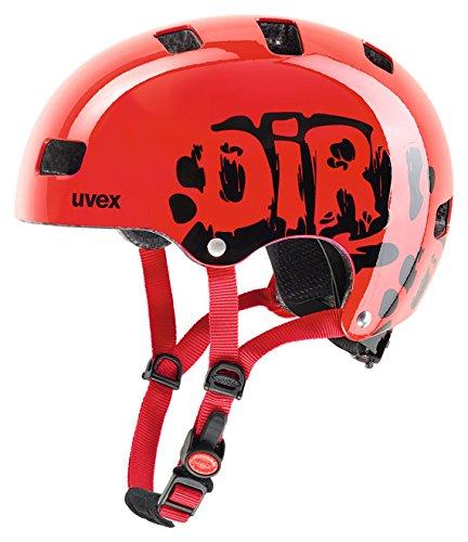 Uvex Kinder Fahrradhelm Kid 3, Rot (Dirtbike Red), 51-55 cm