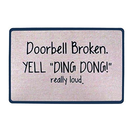 Pinji Funny Doormat Non-Slip Rubber Entrance Mat Floor Mat Rug Indoor/Outdoor/Front Door/Bathroom Mats Personalized Really Loud 23.6(L) x 15.7(W) inch