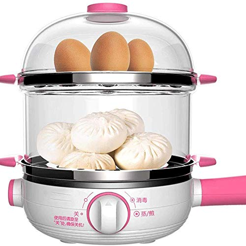WCJ Home 2-laags mini-ei met afstandsbediening voor de ontbijtmachine, multifunctioneel, draagbaar, automatische uitschakeling met grote capaciteit van 14 eieren
