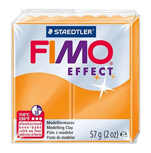 Staedtler 8020-404 - Fimo Effect Normalblock, 57 g, orange transluzent