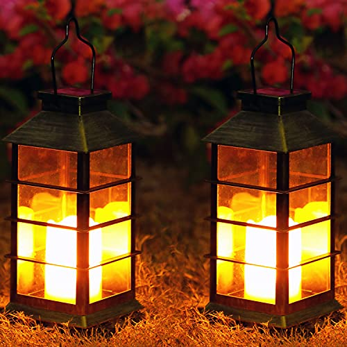 Lampada Solare Giardino Esterno,OxyLED 2 pcs LED Luci Solari Giardino,Cambia Colore Lampade da Esterno per Prato,Decorativo LED Lampade Solari,IP44 Impermeabile Solari Luce Paesaggio Strade