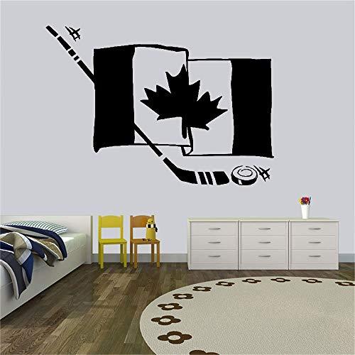 Hockey Flagge Kinder Wandaufkleber Kinderzimmer Wandtattoo Sport Gym Vinyl Moderner Hintergr& Aufkleber Wandbild A8 57X71CM