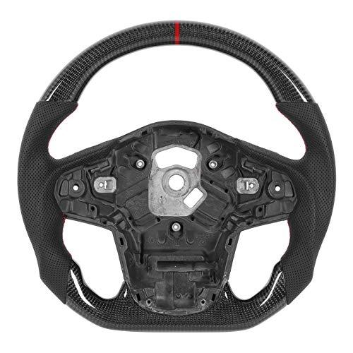 Volante, cuero perforado de napa de carreras de automoción de fibra de carbono apto para GR Supra A90 2020+