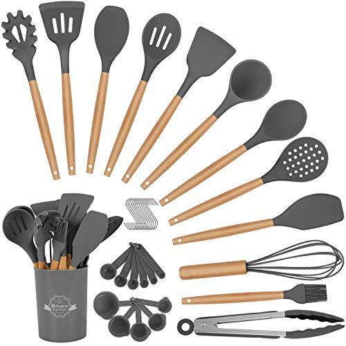Duerer Utensilios Cocina de Silicona, juego de utensilios de cocina 36 piezas,...