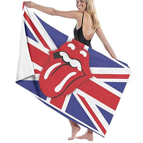 Custom made The Rolling Stone Toallas de baño grandes y suaves toallas de baño absorbentes para mujeres y hombres se aplican a la playa deportes de viaje