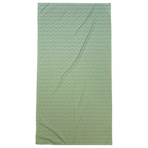 Artverse Artverse Katelyn Elizabeth Classic Art Deco Bath Towel Poly Cotton 30 X 60 Green Yellow From Amazon Shefinds