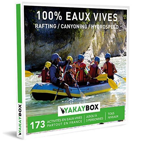 Yakaybox | Geschenkbox 100% Rafting | Box zum Verschenken für Wasseraktivitäten in Seife, Ardèche, Dordogne, Pyrenäen, Morvan für 1 bis 3 Personen