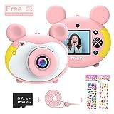 ThiEYE KinderKamera für Mini Kamera HD Digitale Kamera 2,0 Zoll Farbdisplay 1200 Megapixel 1080p Videokamera mit 16GB SD Karte und USB Kabel (Pink)