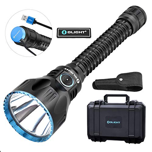 OLIGHT Javelot Pro 2100 Lumens Dual-Switch High Performance NW LED Tactical Flashlight, Beam Distance of 1080 Meters Rechargeable Tactical Light for Hunting, Search & Rescue