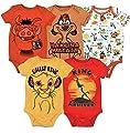 Disney Lion King Baby Boys 5 Pack Short Sleeve Bodysuit 3-6 Months from Bentex Group, Inc.