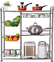 Home Living Museum/Kitchen Shelf Floor Balcony Microwave Three Story Living Room Multi Layer Storage Rack Household Finish...