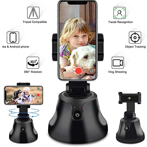 KINOEE All-in-One Selfie Stick 360 Degree Rotation,Auto Face & Object Tracking Smart Shooting Camera Phone Holder, Vlog Shooting Smart Phone Holder, Compatible with All iPhone and Android Phones