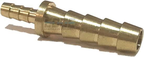 "EDGE INDUSTRIAL 1/4"" X 1/8"" Hose ID Brass Barb Reducer SPLICER Fitting Fuel / AIR / Water / Oil / Gas / WOG (Qty 1)"