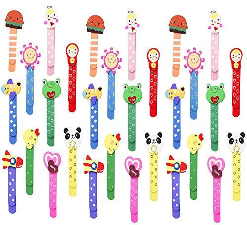 Animali Segnalibro Coloratissimi 30 pezzi, Annhao bambini in legno idea, Bambini Fumetto Colorati Carini Divertenti in Legno Regalino Gadget Festa Compleanno Bambini per Bomboniera Battesimo Natale