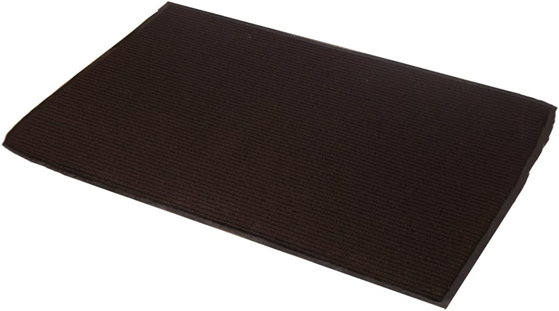 XUERUI Doormats Barrier MAT Door MAT Rubber Backed Medium Runner Barrier MATS Rug (60cm90cm) (color   Brown)