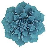 Best Flower Pillows - Fennco Styles Handmade 3D Heart-Shaped Petals Flower Decorative Review