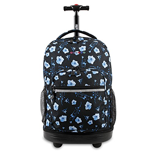 J World New York Sunrise Rolling Backpack, Night Bloom, 18'