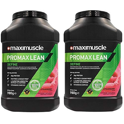 Maximuscle Promax Lean - 980g - Strawberry Twin Pack