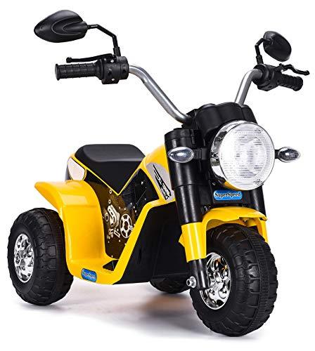 kid go Moto Elettrica per Bambini 6V Baby Gialla