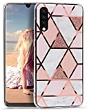 Imikoko for Samsung Galaxy A50 Case Glitter Marble Rose