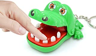 aiyuyu Mini Green Crocodile Teeth Toys Game for Kids, Crocodile Biting Finger Dentist Games Funny Toys Ages 4 and Up Keychain Decoration