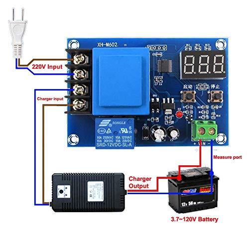 YJDSZD Nuevo perfecto 1 unids XH-M602 control digital batería de litio módulo de control de carga batería interruptor de carga de la placa de sobrecarga interruptor de control de parada