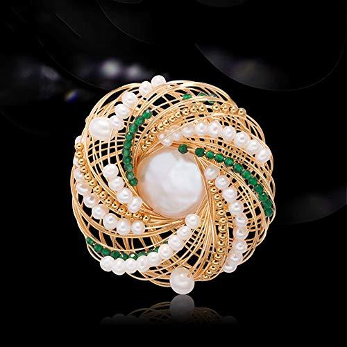 Luxe Crystal Pearl Broche Pin Voor Dames Vrouwen, Fashion Broches Corsage, Sieraden Trouwjurk Accessoires, Geschikt Voor Feesten, Banket, Data