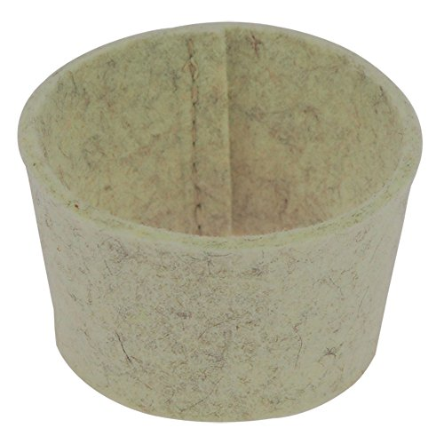 ebos Filzmanschette ✓ passend Coffee-to-Go-Becher aus Bambus ✓ Extra-Zubehör   100{b0604917c82344c860cab05613247a5ae2d60de7310556023b9ebd3694e77b10} Wollfilz (neutral - beige)