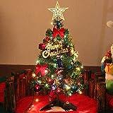 Dream Loom Arbre de Noël de Table de 60cm, Mini Sapin de Noël Artificiel avec lumières LED et Ornements (Arbre de Noël)