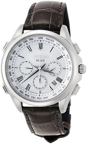 [セイコーウォッチ] 腕時計 ドルチェ ソーラー電波クロノグラフ ワールドタイム機能 SADA039 メンズ ブラック