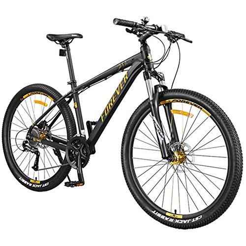 XRQ Bicicleta de montaña 27 Velocidad 27.5 Pulgadas Suspensión de Freno de Disco de Aceite Horquilla Suspensión Trasera Bicicletas Antideslizantes Hombres y Mujeres Bicicleta Todoterreno para Adultos