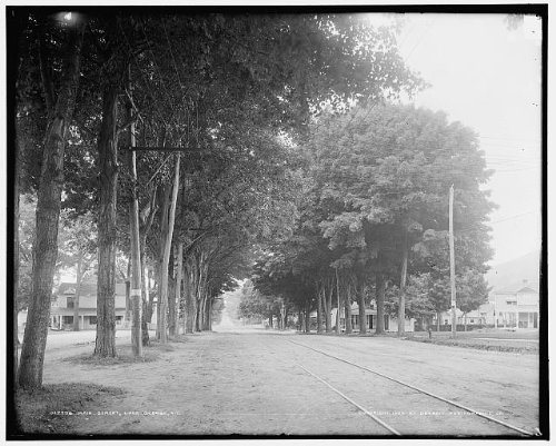 INFINITE PHOTOGRAPHS Photo: Main,Canada Street,dwellings,Homes,Tracks,Roads,Lake George,New York,NY,c1904