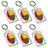 Schlüsselanhänger mit Guinea-Bissau-Flagge – Partytütenfüller – Veranstaltungen – Feiern – Sammler – Dekorationen – Sockenfüller (12 Stück)