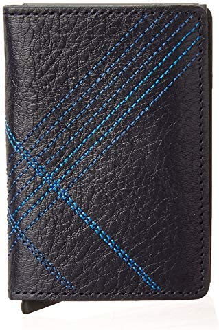 Secrid Slim Wallet Genuine Leather Stitch Linea Navy Safe Card Case max 12 cards product image