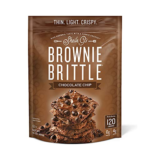 Sheila G's Brownie Brittle, Chocolate Chip, 16 Ounce Bag (Packaging May Vary)