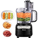 Food Processor, DECEN 2L Compact Food Processor, 4 Speed Controls Multifunctional Electric Food