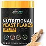 Nutritional Yeast Flakes Seasoning, Nooch for Vegan Cheese Powder Substitute (1 Pack) - 100% Pure Non Fortified, Unsweetened - Kosher, Gluten Free, Non GMO, Plant Based Protein, Dairy Free