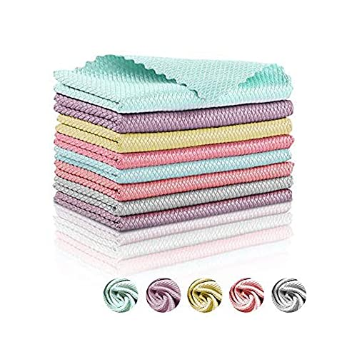 Radrdior Nanoscale Cleaning Cloth, NanoScale -Streak-Free Miracle Cleaning Cloths Reusable, Easy Clean Cloths nanoscale Microfiber Cleaning Cloth (12 x 16 Inch,20 Pcs)